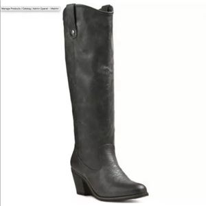 Mossimo Esmeralda Tall Boots Charcoal/Dark Gray